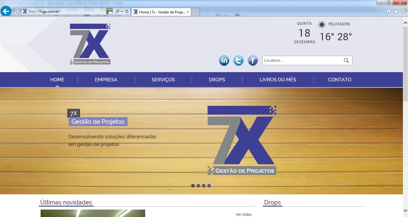 7X inaugura seu site.